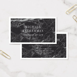 Black Marble Business Card