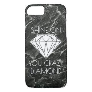 Black Marble Diamond Custom iPhone 8/7 Case