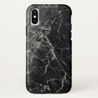 Black Marble iPhone X Cases