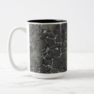 Black Marble Mosaic Glass Pattern Mug