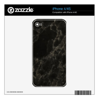 Black Marble Skins For iPhone 4S
