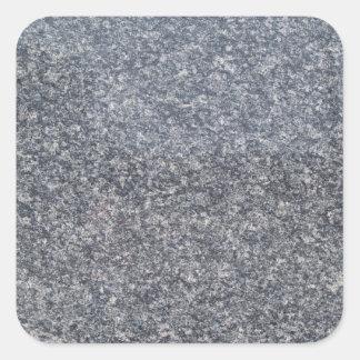 Black Marble Square Sticker
