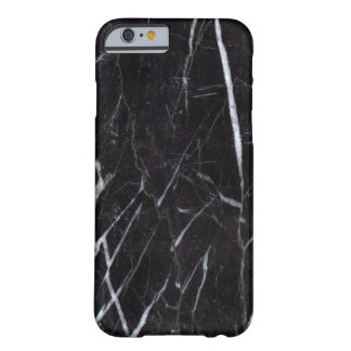 Black Marble Stone Grain/Texture Barely There iPhone 6 Case
