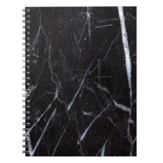 Black Marble Stone Grain Texture Notebooks