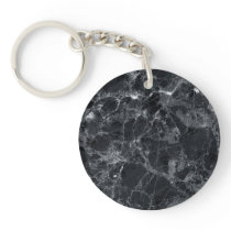 Black marble texture keychain