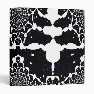 Black Marble Tile Fractal Art Binder