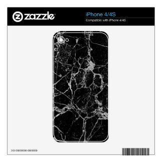 Black Marble with White Veining Skin For The iPhone 4