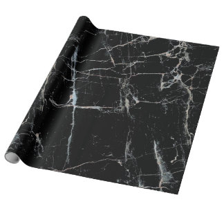 black marble wrapping paper