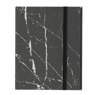 Black Marbled Stone iPad Folio Case