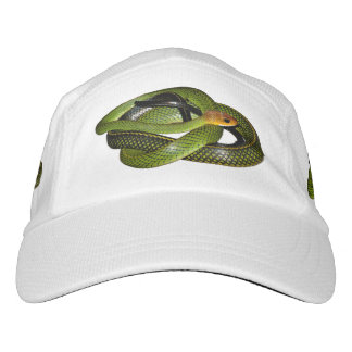 Black-margined Ratsnake or Green rat snake Headsweats Hat