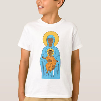 black maria and baby jesus, vector art,christian,f T-Shirt