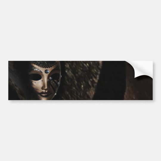 Black mask bumper sticker