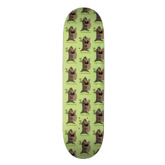 Black mask fawn Frenchie is a cute tree hugger Skateboard Deck