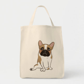 Black Mask Pied French Bulldog Wants Your Love Tote Bag