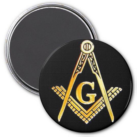 black masonic magnet