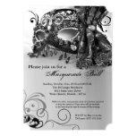 Black Masquerade Mask Ball Costume Halloween 5x7 Paper Invitation Card