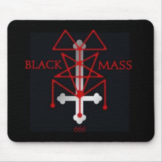 Black Mass Inverted Cross and Sigil Mousepad