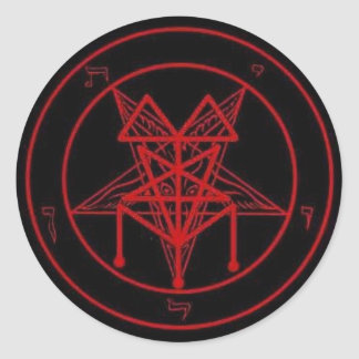 Black Mass Signature pentagram Classic Round Sticker