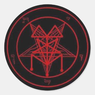 Black Mass Signature pentagram Classic Round Sticker