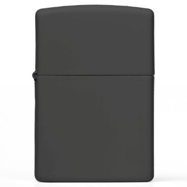 Beach Themed Black Matte Zippo Lighter