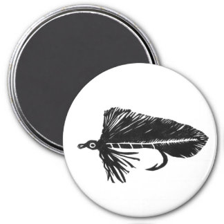 """Black Matuka Streamer"" Classic Trout Fly Magnet"