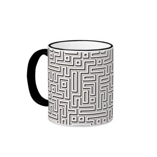 Black Maze Mugs