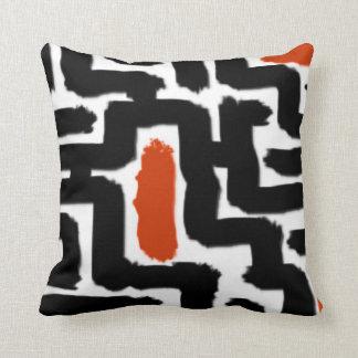 Black Maze Throw Pillow
