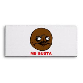 Black Me Gusta Rage Face Meme Envelope