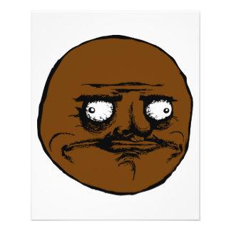 Black Me Gusta Rage Face Meme Flyer