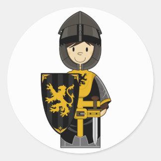 Black Medieval Knight Sticker