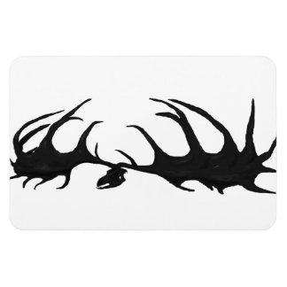 Black Megaloceros Skull Flexi Magnet