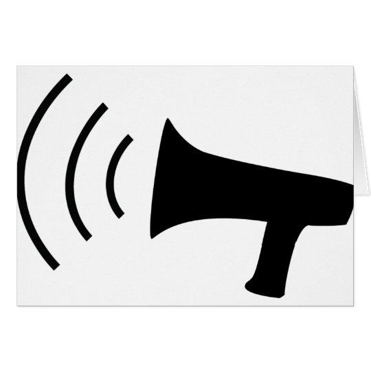 black megaphone icon card