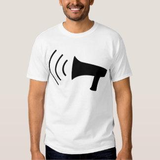 black megaphone icon T-Shirt
