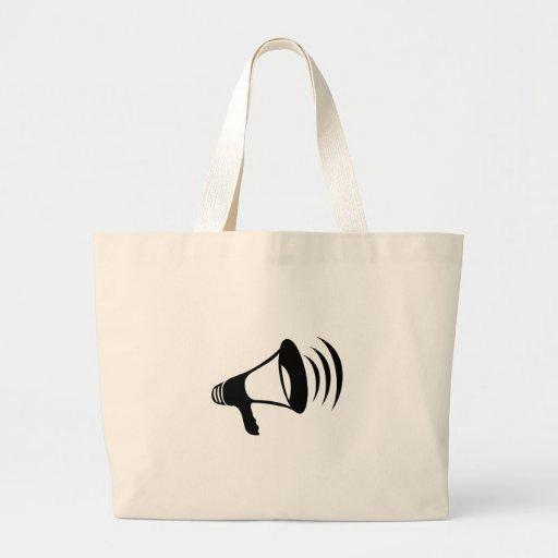 Black Megaphone Jumbo Tote Bag