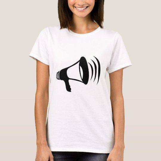 Black Megaphone T-Shirt