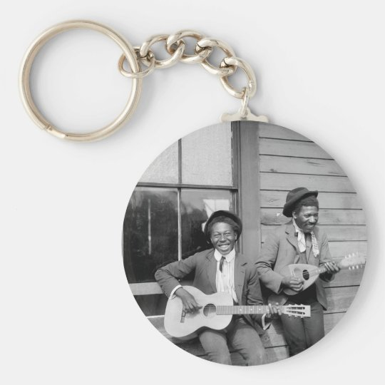 Black Men Playing Guitar, 1902 Keychain