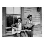 Black Men Playing Guitar, 1902 Postcard