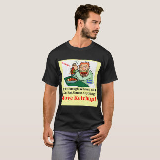 Black Men's T-Shirt I Love Ketchup
