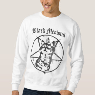 Black Meowtal Sweatshirt