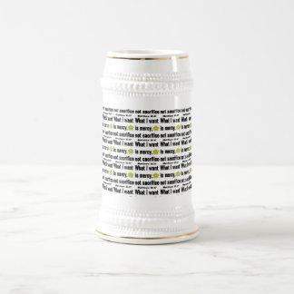 Black Mercy Not Sacrifice Tiled Beer Stein