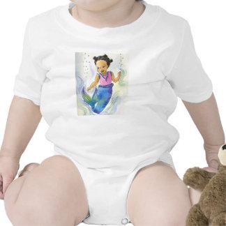 Black Mermaid Girl baby tshirt