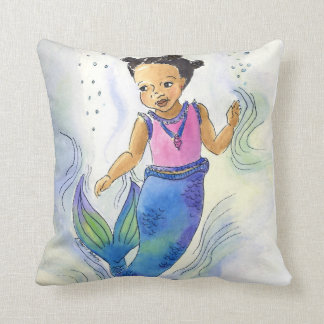 Black Mermaid Princess pillow for girls