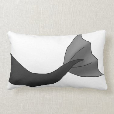 Black Mermaid Tail Pillow