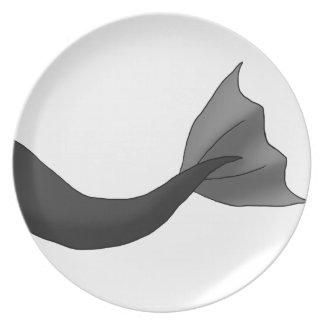 Black Mermaid Tail Plate
