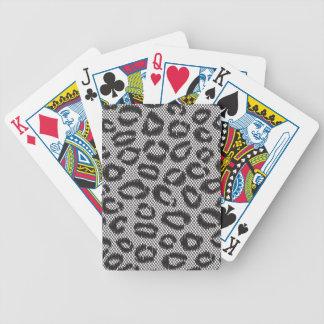 Black Mesh Animal Print Lace Cheetah Leopard Playing Cards