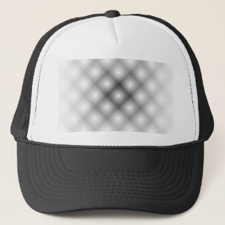 Black Mesh White Balls Moire by Kenneth Yoncich Trucker Hat