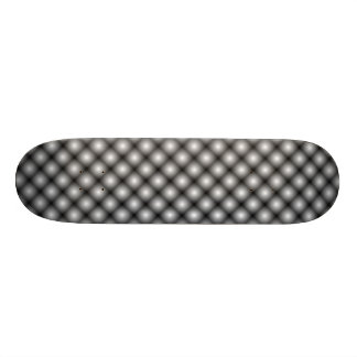 Black Mesh White Balls Moire (Clear) Skateboard