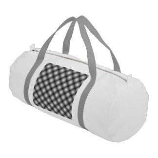 Black Mesh white Balls Moire Duffle Bag