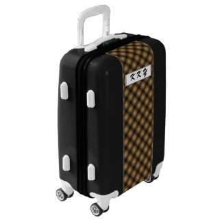 Black Mesh White Balls Moire(T) by Kenneth Yoncich Luggage