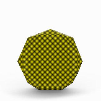 Black Mesh White Balls Moire (Tintable) Acrylic Award